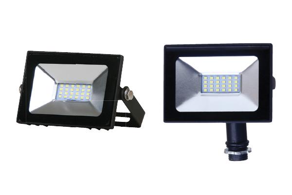 F16S-L mini flood light available with pole mount or yoke